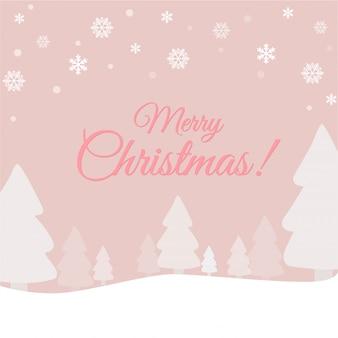 Nette weihnachtshintergrundschablone für kartenfahne.