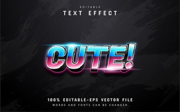 Netter 80er gradientenstil-texteffekt