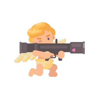 Netter amor, der eine bazooka schießt