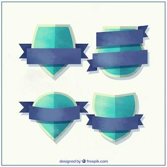 Netter aquarell kuppen mit dekorativen bändern