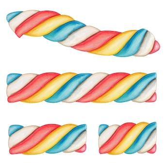 Netter aquarellregenbogen-eibisch