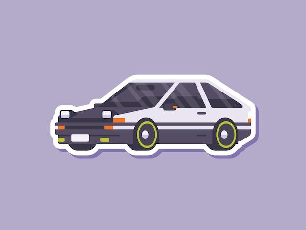 Netter autoaufkleber-drift