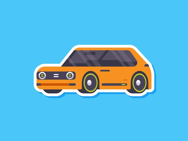 Netter autoaufkleber elektrisch