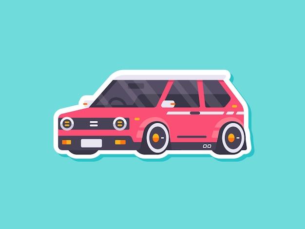 Netter autoaufkleber retro