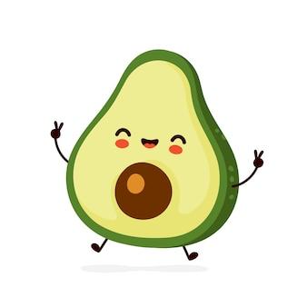 Netter avocado-charakter