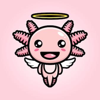 Netter axolotl-engel-charakterentwurf