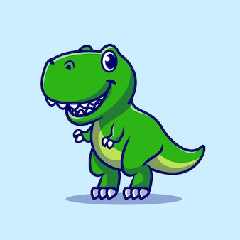 Netter baby-dino-cartoon