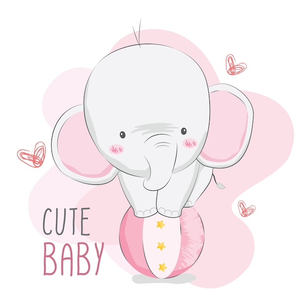 Netter baby-elefant-zirkus