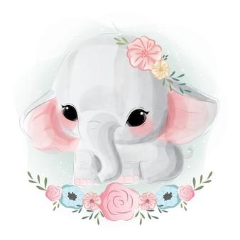 Netter baby-elefant