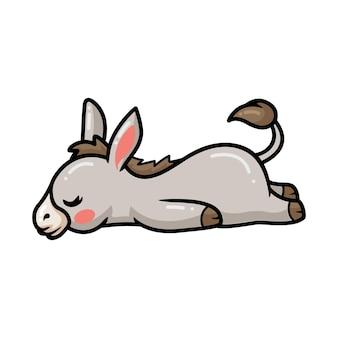 Netter baby-esel-cartoon schlafen