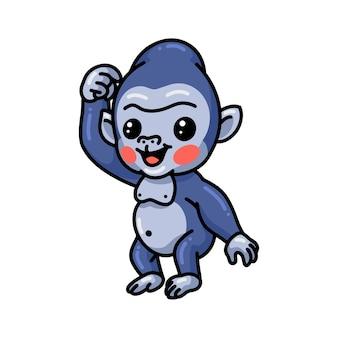 Netter baby-gorilla-cartoon-stand