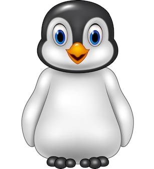 Netter baby-pinguin, der auf eisscholle sitzt