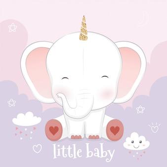 Netter babyelefant