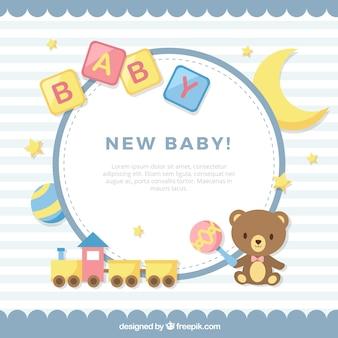 Netter babyhintergrund in der flachen art