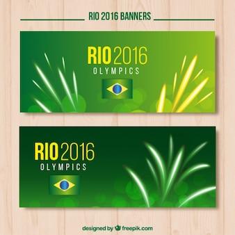 Netter banner für die olympischen spiele in brasilien