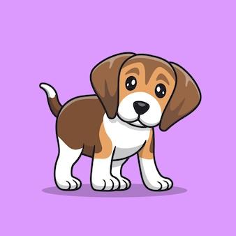 Netter beagle welpe