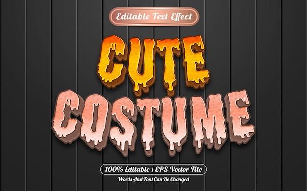 Netter bearbeitbarer texteffekt-vorlagenstil für kostüme