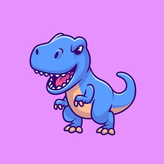 Netter blauer tyrannosaurus rex