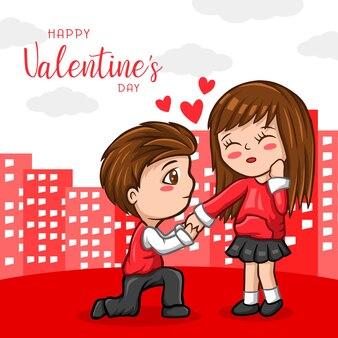 Netter charakter valentinstag gruß
