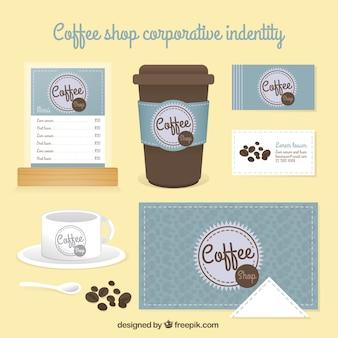 Netter coffee-shop korporativen indetity