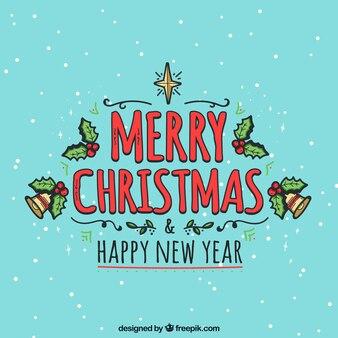Netter dekorativer weihnachtshintergrund