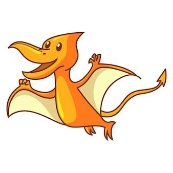 Netter dinosaurier pteranodon fliegt.