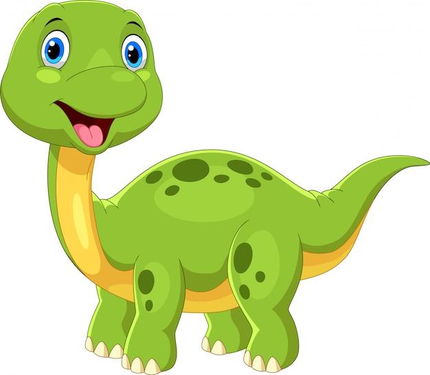 Netter dinosaurierkarikatur