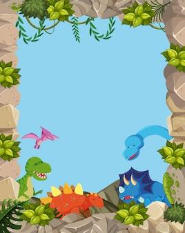 Netter dinosaurierrahmen der natur