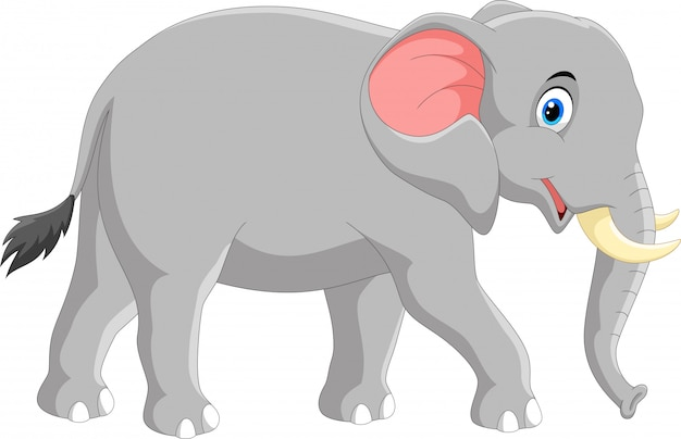 Netter elefantenkarikatur