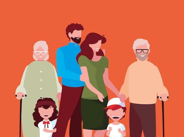 Netter familienmitgliedavataracharakter