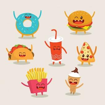 Netter fast-food-charakter