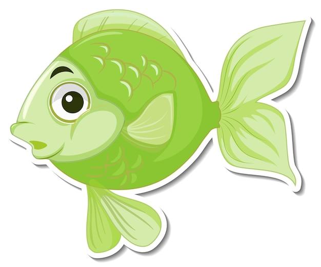 Netter fisch-meer-cartoon-aufkleber