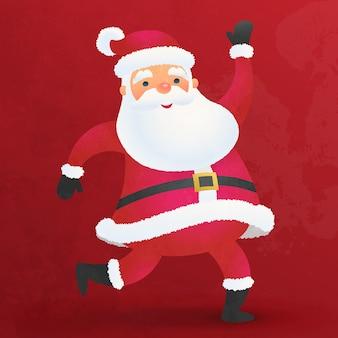 Netter flacher karikatur des weihnachtsmannes für weihnachtsdekoration