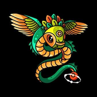 Netter fliegender drache