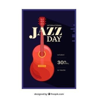 Netter flyer für den internationalen jazz-tag