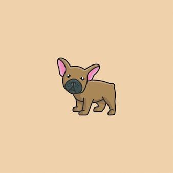Netter französischer bulldogge-vektor