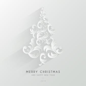 Netter frohe weihnacht-hintergrund mit verzierungen