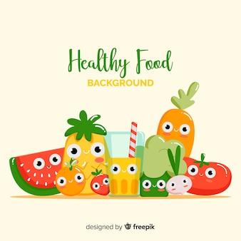 Netter gesunder nahrungsmittelhintergrund