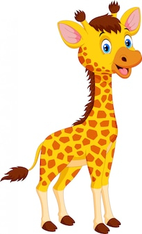 Netter giraffenkarikatur