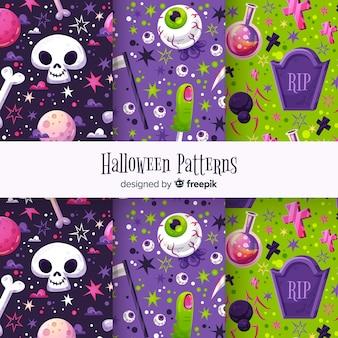 Netter halloween-mustersatz