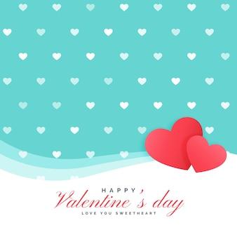 Netter herzhintergrund für valentinstag