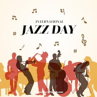 Netter hintergrund für den internationalen jazz-tag
