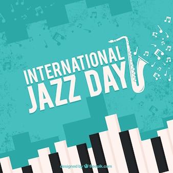 Netter hintergrund für internationalen jazztag