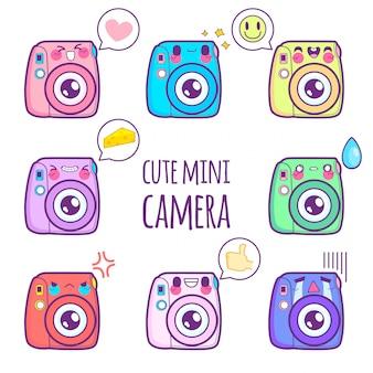 Netter kameraaufkleber emoticon