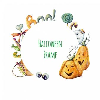 Netter karikatur halloween-rahmen
