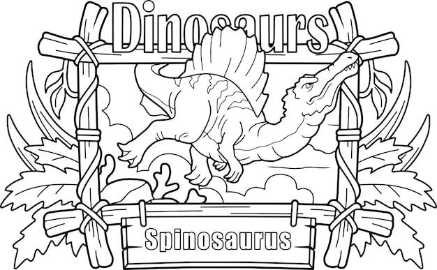 Netter karikatur-spinosaurus
