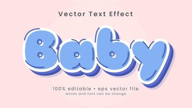Netter karikaturbaby-texteffektstil