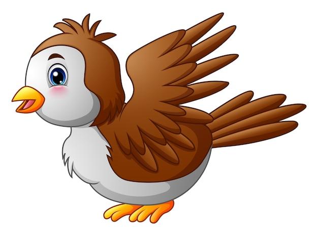 Netter karikaturrotkehlchenvogel