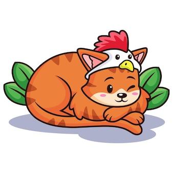 Netter katzen-cartoon