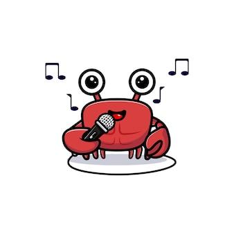 Netter krabbencharakter, der gerne singt